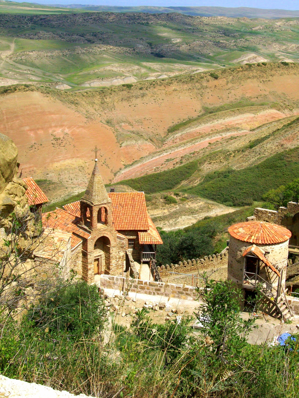 Monastery of Davit Gareja - Active with Monks - Border Azerbaijan & Georgia