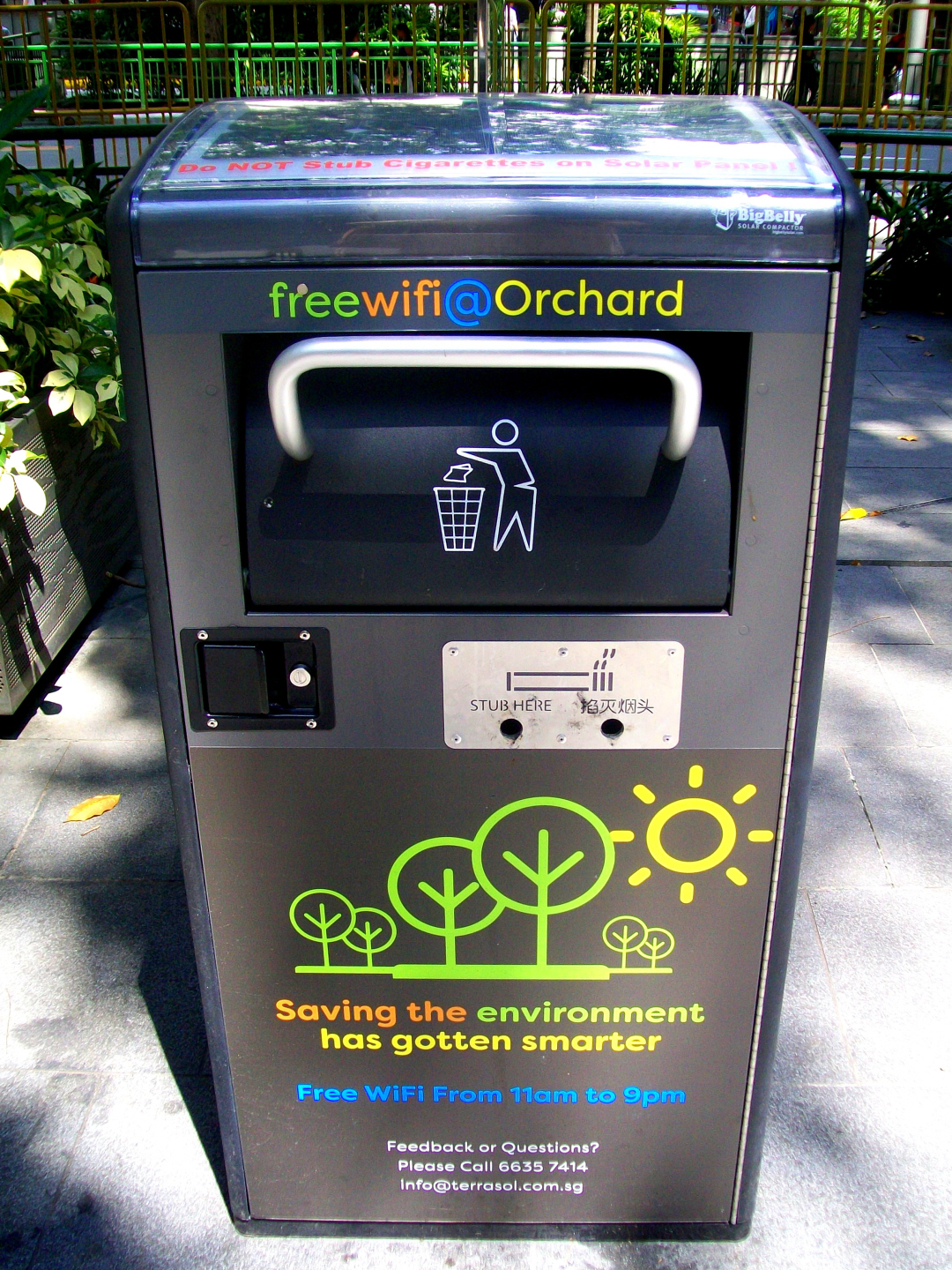 Free WIFI from Solar Garbage Compacter- Too Innovative !!!