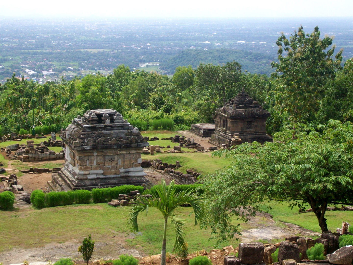 View from Candi  Ijo - HIndu (10-11th CE) Central South Java