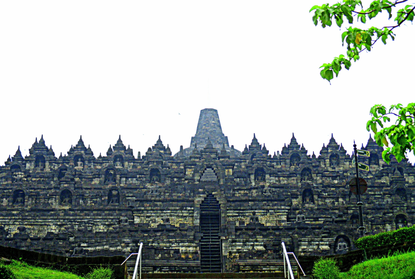 Approch to Borobodur Buddhist Shrine (9th ce) UNESCO World Heritage Site - Magelang, Java