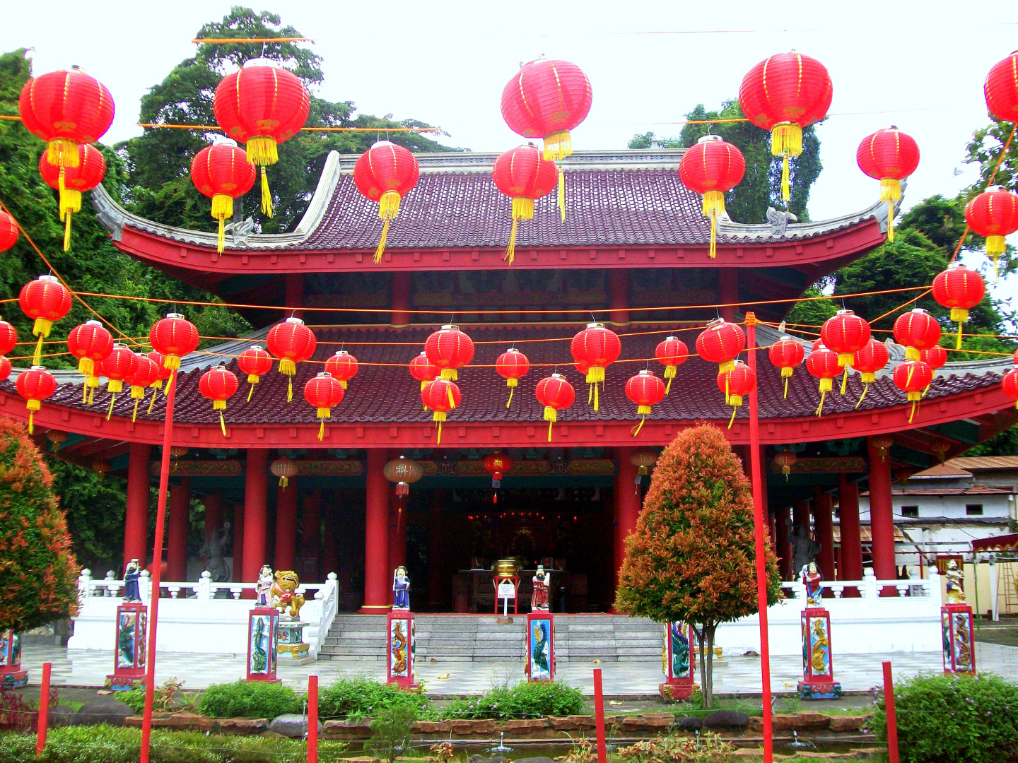 One of the Chinese Temples at the Sam Po Complex in Semarang, Java