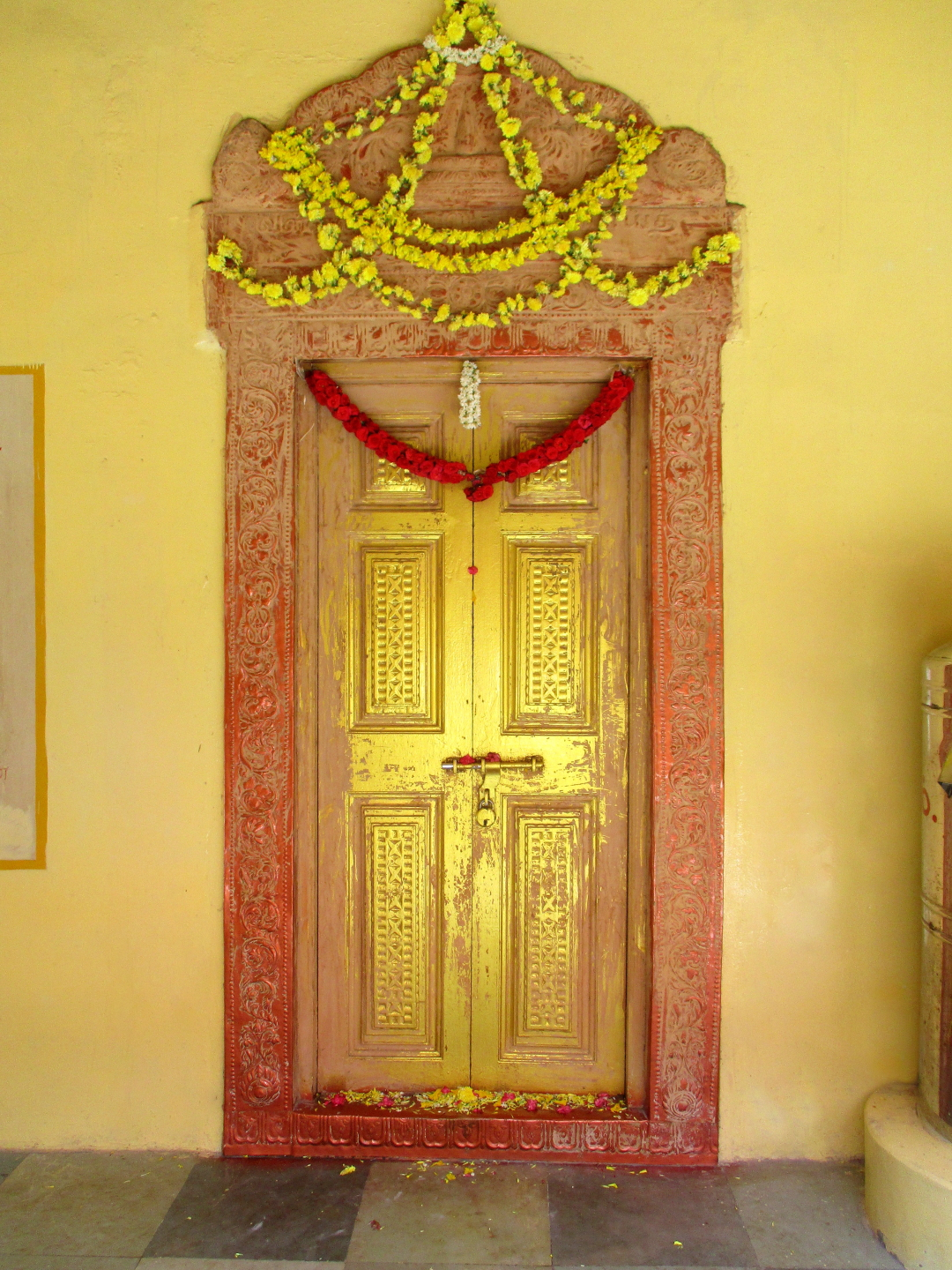 Shrine of Sri Ramalinga Swamigal Temple, where he disappeared into light behind the door