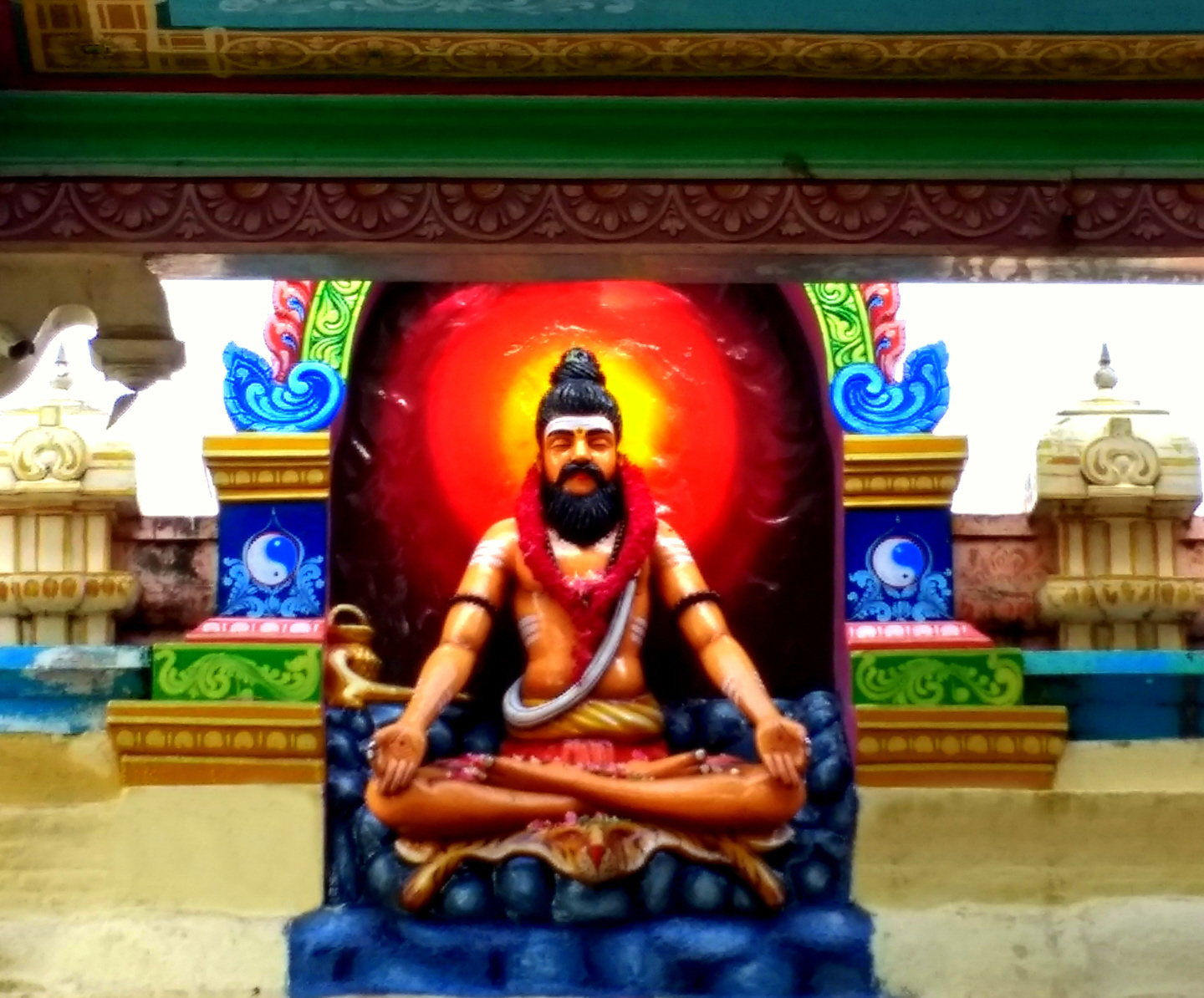 There are 18  major Siddha Saints in the Dravidan Spiritual Tradition this is Sri Bogar the main Siddha Associated with the Palani Temple- Palani, Tamil Nadu - India