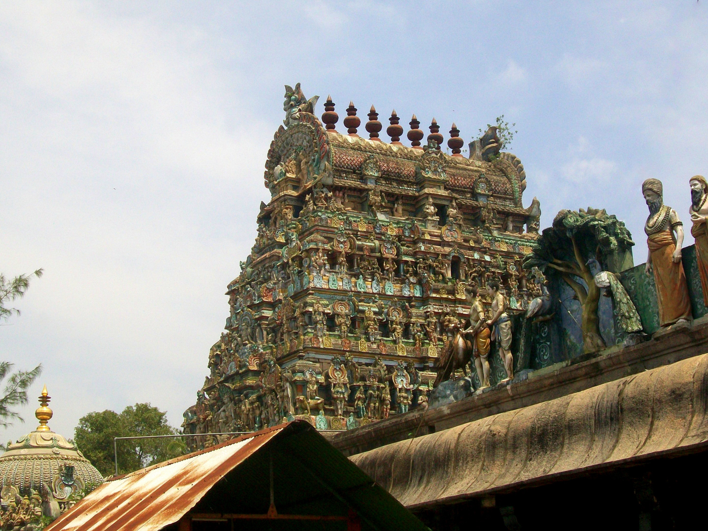 Gompura of Vaithiswarankoil   Temple - Dedicated to Shiva as Healer Associated with the Planet Mars (Beginning 1070-1120 CE)  - Tamil Nadu, India